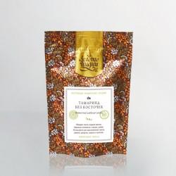 Палантин Шерсть ручная вышивка, ручной окрас, 70х195см, шерсть 100%, оранжевый