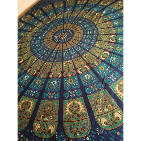индийская туника синяя шерсть XL размер