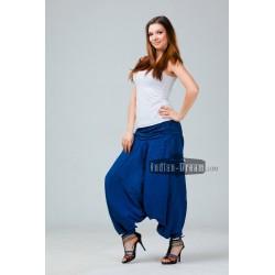 Индийские штаны алладины однотонные с драпированным поясом