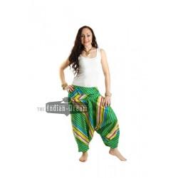 индийские хлопковые штаны алладины с карманом на поясе