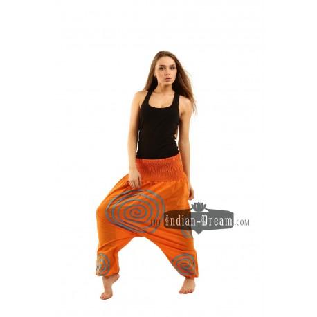 индийские штаны алладины с кругами хлопок