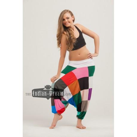 трикотажные лоскутные индийские штаны алладины