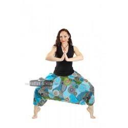 индийские штаны алладины с трикотажным поясом