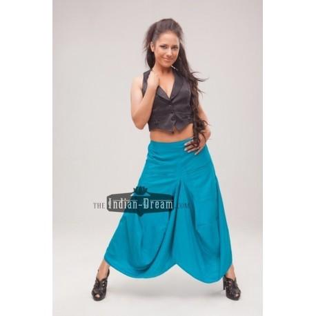 индийская юбка с драпировками и карманами