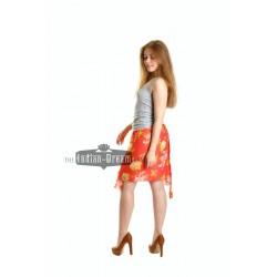 короткая индийская юбка с запАхом шифон