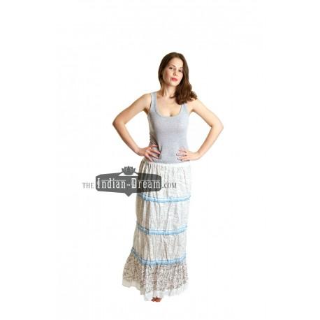индийская хлопковая длинная юбка