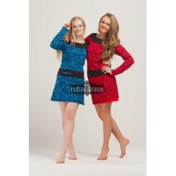 короткое индийское трикотажное платье