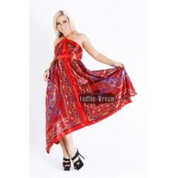 шелковое индийское платье платок