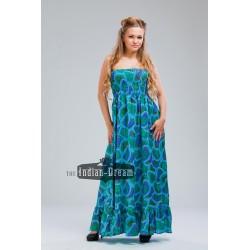 длинное индийское хлопковое платье