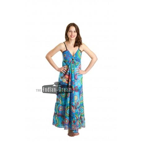 длинное хлопковое летнее индийское платье