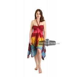 индийское хлопковое пляжное платье цветное