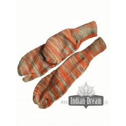теплые носки с отдельным большем пальцем