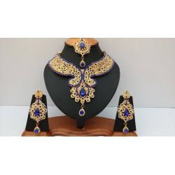 сет индийских украшений синий в золоте