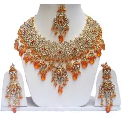 """сет индийских украшений """"Каджол"""" в золоте"""