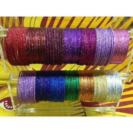 индийские браслеты разноцветные комплект 12 шт
