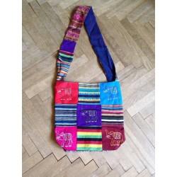 индийская хлопковая сумка цветная со слоном