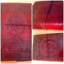 """кожаная записная книжка """"Шива"""" , ручная работа, Индия"""
