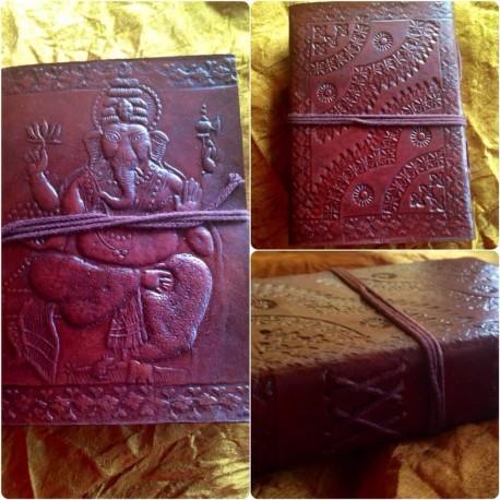 """кожаная записная книжка """"Ганеша"""", ручная работа, Индия"""