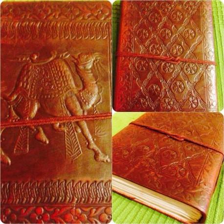 """кожаная записная книжка """"Верблюд"""", ручная работа, Индия"""