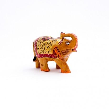 статуэтка Слон, 8 см, коричневый, роспись (орех), Индия