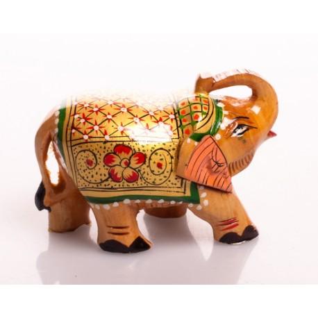 статуэтка Слон, 5см, роспись (орех), Индия