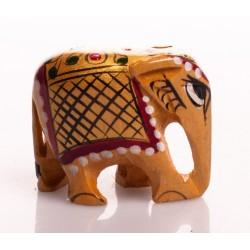 статуэтка Слон, 4см, роспись (орех), Индия