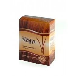 Травяная краска для волос Золотисто-коричневая Aasha herbals 60 гр