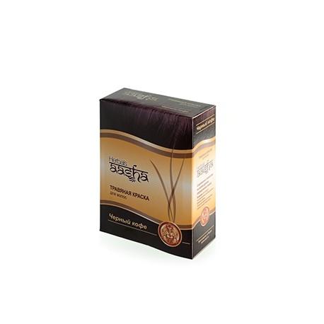 Травяная краска для волос Черный кофе Aasha herbals 60 гр