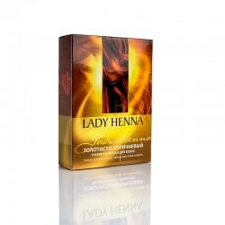 Натуральная краска для волос Золотисто-коричневая Lady Henna 100 гр