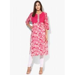 индийская туника ярко розовая XS размер