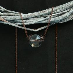 подвеска хрустальный шар на медной цепочке