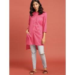 индийская туника розовая в полоску Taavi, XL размер