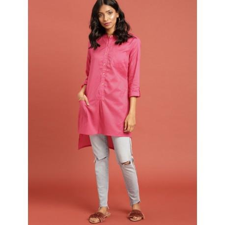 индийская туника розовая в полоску Taavi, S размер