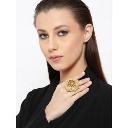 индийское кольцо круглое с жемчугом