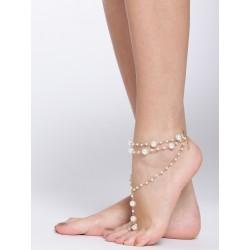 индийское украшение на ногу с искусственным жемчугом