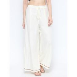 индийские штаны палаццо белые, М  размер