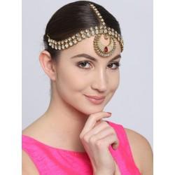 индийская тройная тика с камнями украшение на голову