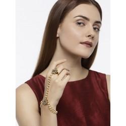 индийское украшение на руку кольцо с браслетом