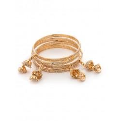 индийские браслеты золотистые с подвесками