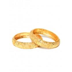 индийские браслеты золотые с тиснением пара штук