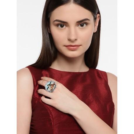 индийское кольцо с миниатюрой one size