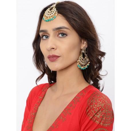 комплект индийских украшений - тика и пара серег