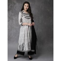 серый комплект индийской одежды S размер