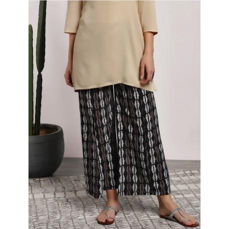 индийские брюки палаццо с этно принтом М размер