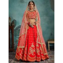 индийский свадебный юбочный костюм ленга чоли (ткань для пошива)