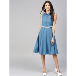 индийское платье без рукавов с поясом L размер