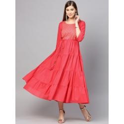 розовое индийское платье со шнурком на талии S размер