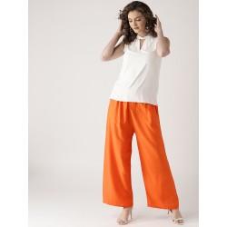 оранжевые индийские штаны с карманами М размер