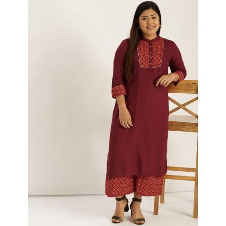 индийский костюм - туника и брюки палаццо - 4XL