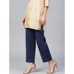 индийские синие брюки с карманом S размер